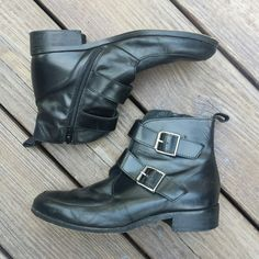 d5a052f7c8bc Listed on Depop by fueledbybats. Depop. Black Leather BootsNasty ...