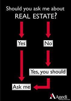 Beyond Real Estate #24: Should you ask us about real estate? Of course, we're a real estate full-service provider! ✅  #realestate #professional #pro #broker #realtor #realtorlife #brokerage #home #yes #ask #goodvibes #humor #joke #fun #funny #meme #laugh #smile #lovemyjob #job #realestatelaughs