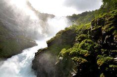 Flamsbana waterfall by joseluisrg.deviantart.com on @deviantART