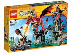 Lego Castle Dragon Mountain - 70403 Gather the troops and take the catapult to Dragon Mountain to battle its fire-breathing guardian! Fire the catapult to Shop Lego, Buy Lego, Lego Castle, Crayola Pens, Chateau Lego, Dragons, Lego Dragon, Dragon Lego Sets, Lego Building Sets