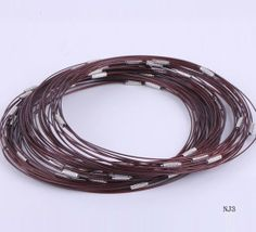 Inches Red Tiger Tail Necklaces Wire Thread Chain Jewelry Making