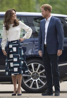 Royal joker Prince Harry made his sister-in-law laugh as they arrived to launch a mental health charity campaign in London