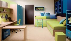I rather like this for the boys.   Cool and Ergonomic Bedroom Ideas for Two Children by DearKids | DigsDigs