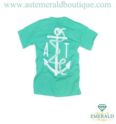 Rope & Anchor Mint Pocket Tee--an Emerald Boutique favorite