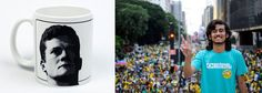 """Como uma das formas de financiar suas ações conservadoras, o Movimento Brasil Livre (MBL), de Kim Kataguiri e companhia, está vendendo alguns suvenires em sua loja virtual; um deles é uma caneca com a imagem do juiz federal Sergio Moro, responsável pelas condenações em primeira instância da Operação Lava Jato; no outro lado, está a frase """"SOMOS TODOS MORO""""; a caneca custa R$ 50"""