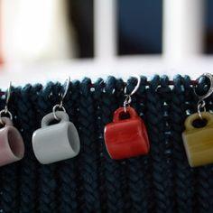 Mug stitchmarkers for knitting