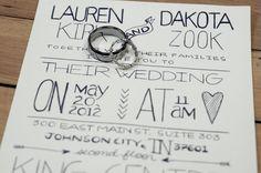 Jamie Montgomery Photography: Wedding Photography, DIY wedding program