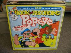 Comic Book & Recording Popeye Sailor Man vinyl LP