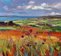 Distant Fair Head with Purple Flowers by Duncan Miller