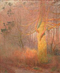 Emile Claus - Tree in the sun - 1900 #mskgent #museum #Gent #Ghent #kunst #art #painting #impressionism