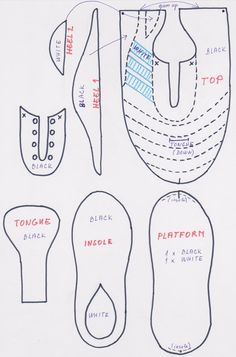 Football cleats — Sketches & Patterns & Templates