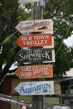 Mallory Square Key West, FL sights sign.