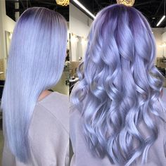 96 Amazing Lavender Hair and Purple Hair Styles In 2020 - Hairstyles Ideas Light Purple Hair, Hair Color Purple, Hair Dye Colors, Cool Hair Color, Green Hair, Periwinkle Hair, Blue Hair, Pixie Cut Grau, Lavender Hair Colors