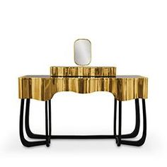PARTNER BRAND: Maison Valentina| Sinuous dressing table | www.bocadolobo.com #partnerbrand #furniture #luxuryfurniture
