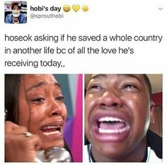 IM CRYING yes jhope you saved me.. you saved me from leaving.. just like your name..you gave me hope.. something to look forward to, something to hold on.. I can't imagine what I would be doing without you-BTS or the whole thing..