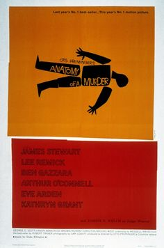 Movie poster for Anatomy Of A Murder by Saul Bass