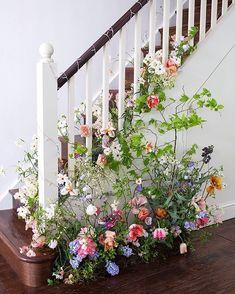 Exquisite wedding flowers, romantic bridal bouquets and wild floral arrangements Wedding Reception Flowers, Spring Wedding Flowers, Floral Wedding, Wedding Bells, Floral Arch, Floral Foam, Wedding Stairs, Wild Flower Arrangements, Flowers London