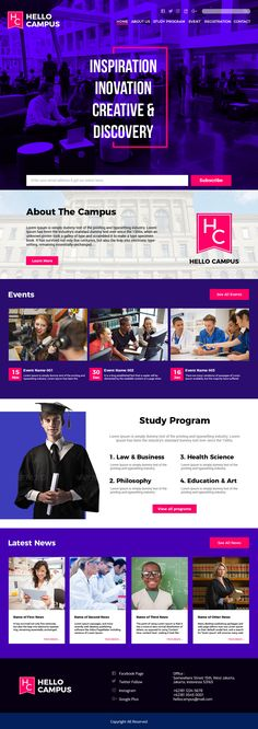 Web Design for University  I have start to learn web design and this is my first work.
