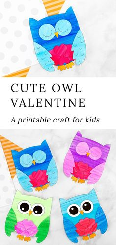 Our sweet Owl Valentine card is fun for kids to make for family and friends. Created with paper hearts and our adorable owl template, this simple handmade Valentine's Day card is the perfect paper craft for home or school. Valentine's Day Crafts For Kids, Valentine Crafts For Kids, Valentines Day Activities, Fun Activities For Kids, Valentines For Kids, Toddler Crafts, Preschool Crafts, Preschool Printables, Valentine Cards