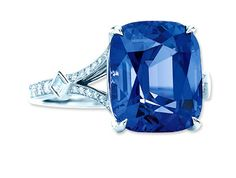 Tiffany & Co. Cushion-Cut Spinel Diamond and Platinum Ring... Omit the Tiffany factor