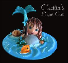 Mermaid Cake Topper  Cake by Cecilia