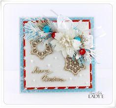 Scrap Art by Lady E: Kartki Świąteczne z Tekturkami / Christmas Cards with…