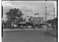 Building under construction at Ketts corner, New Malden Fountain c. 1959