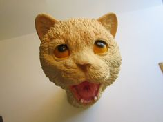 vintage latex CAT hand puppet  1992 Mask Illusion  by theartfloozy