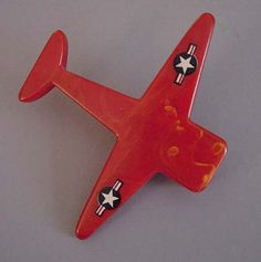 Bakelite plane brooch from Morning Glory Antiques