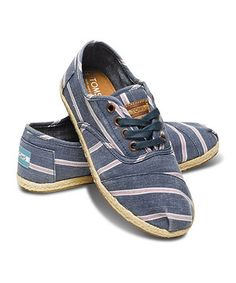 Loving this Navy Washed Stripe Rope Cordones on #zulily! #zulilyfinds