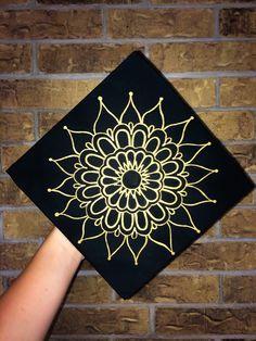 Graduation Cap Design 2018 Krylon 18k Gold Leaf Marker