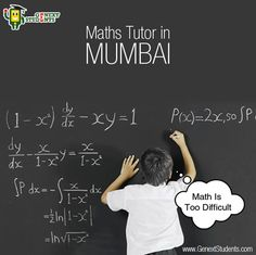 Most students are not fond of mathematics. They think that math is too difficult for them. The truth, however, is that math is easy to understand if you have the right tutor. We can provide the most experienced #Maths #tutor in Mumbai at an affordable cost. Visit our tutoring portal www.genextstudents.com or give us a call at 9167467467.