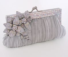 Silver Wedding Clutch Bags