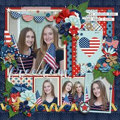 Sweetshoppe Designs Cindy's Layered Templates - Trio Pack 48 by Cindy Schneider Get Festive: 4th Of July Bundle by Kristin Cronin-Barrow & Digital Scrapbook Ingredients Layout by Kjersti Sudweeks 4th of July 12x12 Layout Digiscrap