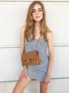 Chiara Ferragni loves an oversized glasses frame.
