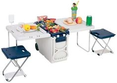 """17"""" Rolling Picnic Table with Cooler  in Spring Big Book Pt 1 from Fingerhut on shop.CatalogSpree.com, my personal digital mall."""