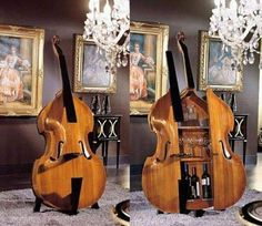 Double bass drinks cabinet!