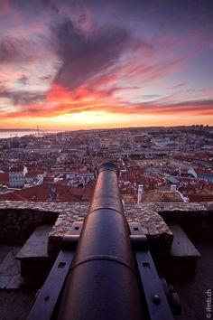 Castle Canons, Lisbon, Portugal