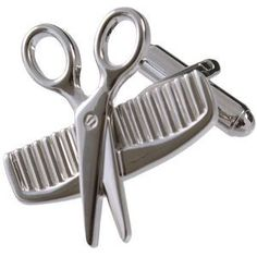 Scissors and Comb Cufflinks