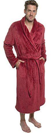 Ross Michaels Men s Plush Shawl - Kimono Bathrobe Robe Kimono Style 4fbe10d2e