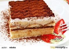 Řezy se zakyskou recept - TopRecepty.cz Tiramisu, Food And Drink, Sweets, Ethnic Recipes, Desserts, Nova, Gardening, Cakes, Water