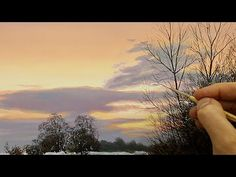 #45 TODAY I'M PAINTING WINTERY TREES! - YouTube