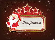 Neon Sign With Santa Vector Illustration Christmas Holiday, Christmas Ornaments, Holiday Decor, Winter Light, Vector Art, Design Art, Vectors, Celebration, December