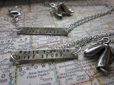 The Verna Necklace Pewter Fortune Cookie by SeizeTheNight on Etsy