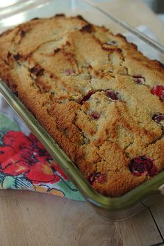 Cranberry-Orange Quickbread (grain-free, dairy-free)
