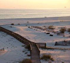 Evening beach scene at Gulf Shores Plantation