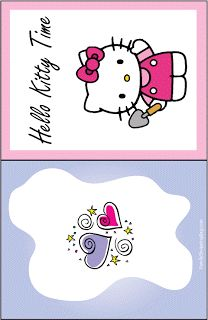 Hello Kitty Printable Coloring Pages and Invitations Free Printable Cards, Printable Planner Stickers, Printable Coloring Pages, Printables, Printable Crafts, Hello Kitty Invitations, Invites, Anniversaire Hello Kitty, Hello Kitty Imagenes