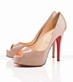 Christian Louboutin Hyper Prive 120mm Nude -$152 yes please!!