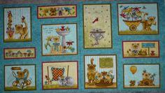"""Kitty Kat Kapers Panel, by Leanne Anderson for Henry Glass Fabrics, by the Panel, 24"""" x 44"""""""