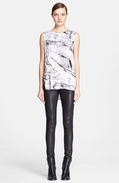 Helmut Lang 'Terrene' Print Jersey Top available at #Nordstrom--this top has a great back and sides.